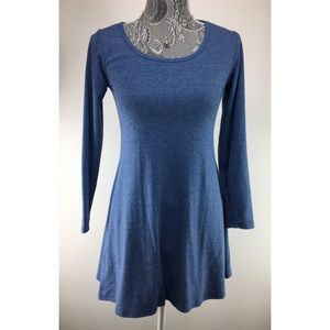 Dresses & Skirts - Women's XS Blue Heather Basic Mini Dress Cotton